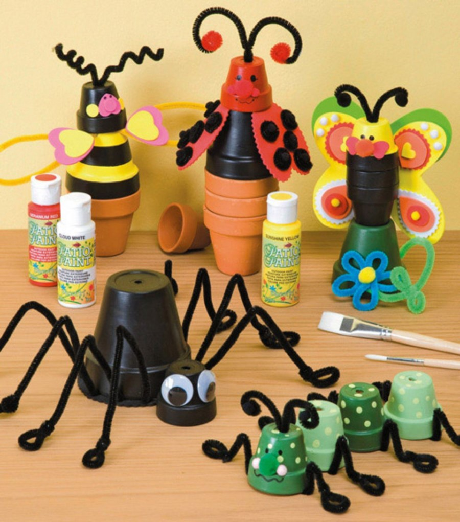 Clay pot bug buddies
