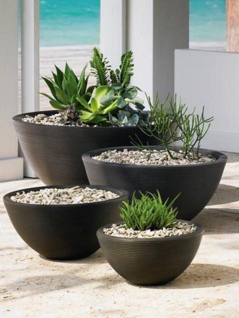 several pots together