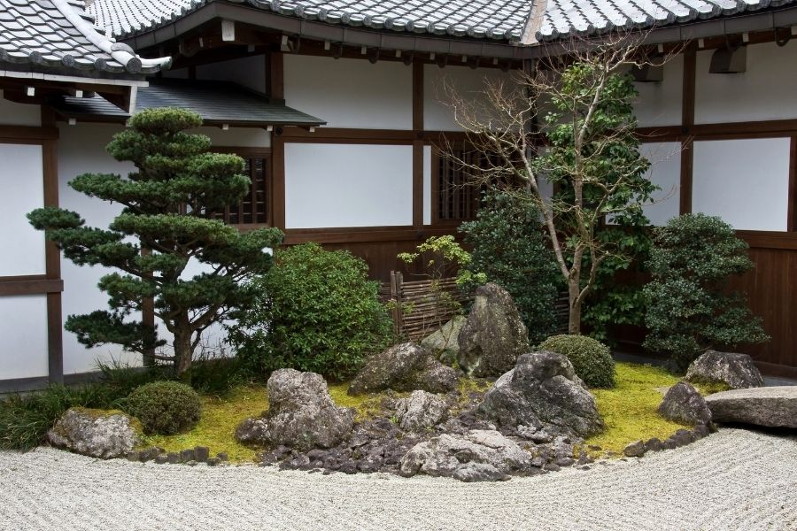 Antique Japanese house and garden