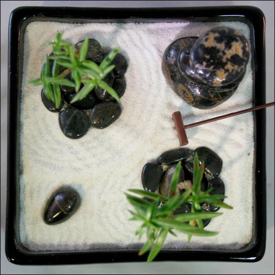 planter in zen garden