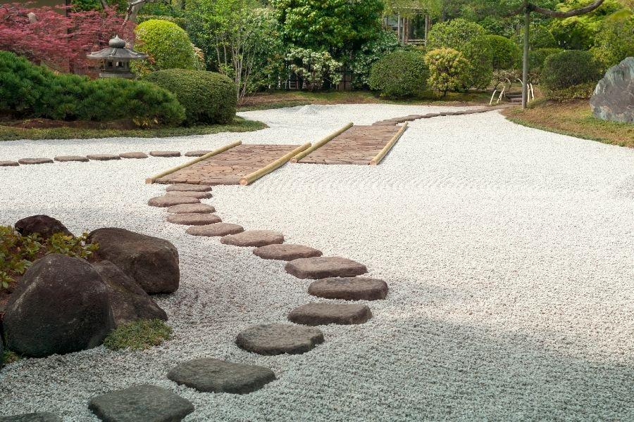 zen garden stepping stones